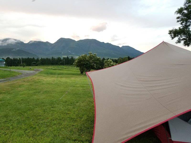 久住高原オートビレッジ:キャンプ日記 雨上がり