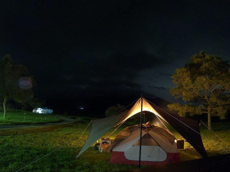 久住高原オートビレッジ:キャンプ日記 夜