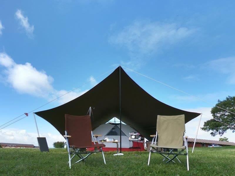 久住高原オートビレッジ:キャンプ日記 テントとタープでゆっくり