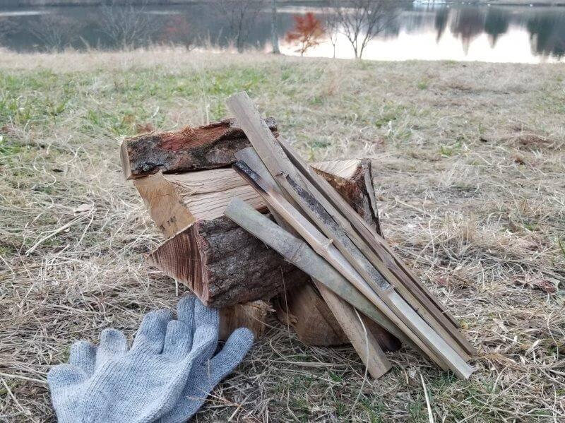 志高湖キャンプ場 販売されている薪