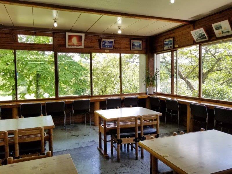 志高湖キャンプ場の軽食コーナー