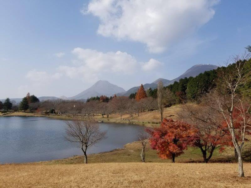 志高湖キャンプ場 丘の上のテントサイト