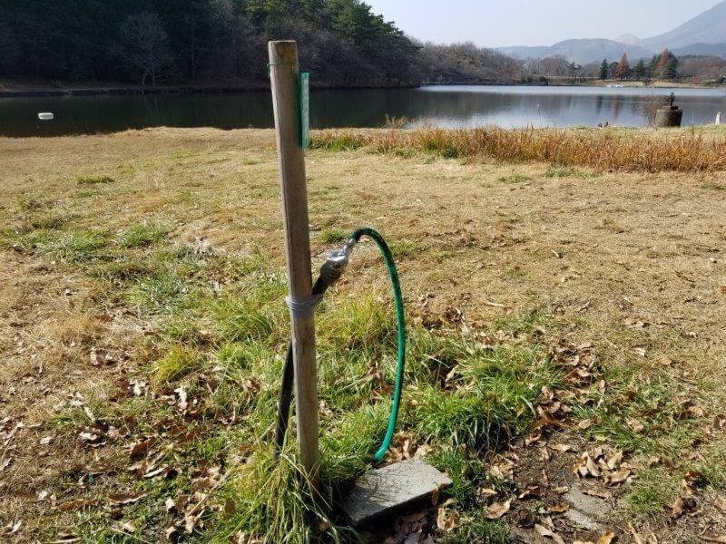 志高湖キャンプ場 簡易水場