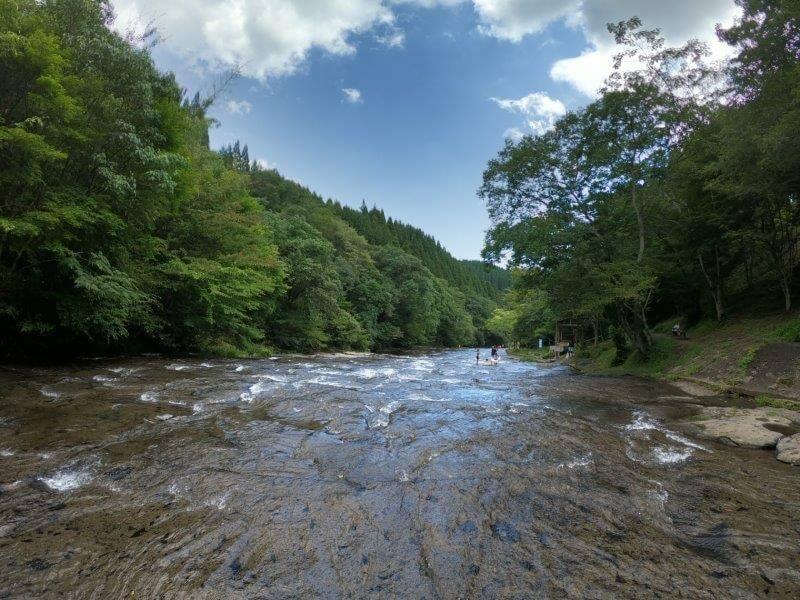 久住高原オートビレッジ:キャンプ日記 遊水峡の下流