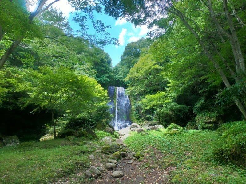 久住高原オートビレッジ:キャンプ日記 遊水峡のかっぱ滝