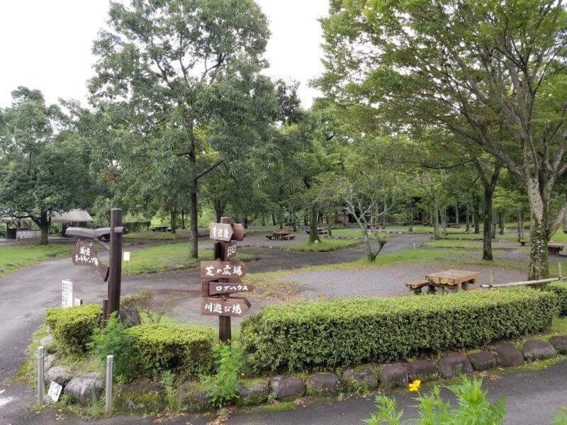 城ヶ原オートキャンプ場 オートサイト