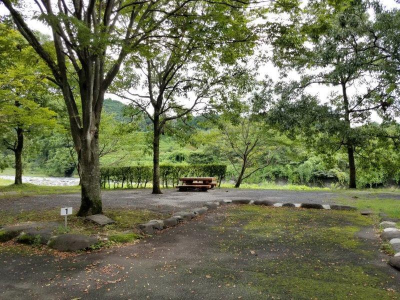 城ヶ原オートキャンプ場 オートサイト 1番サイト