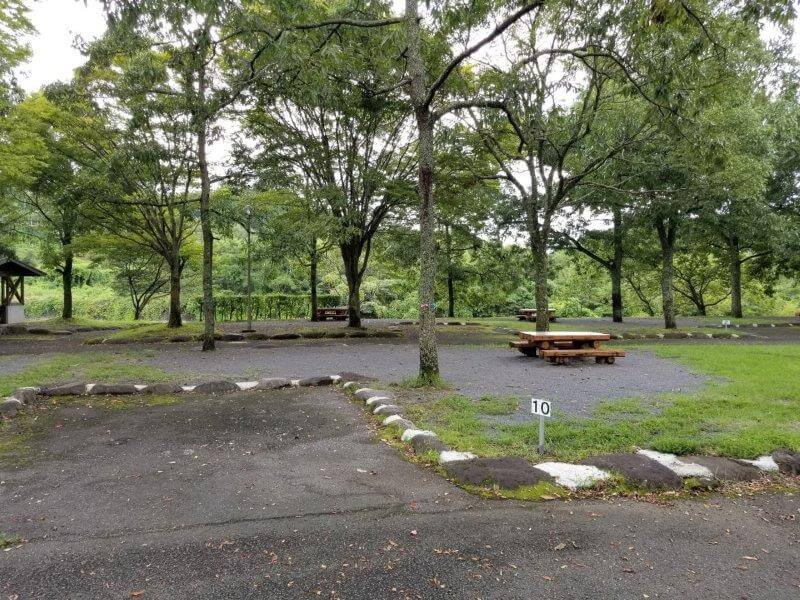 城ヶ原オートキャンプ場 オートサイト 10番サイト