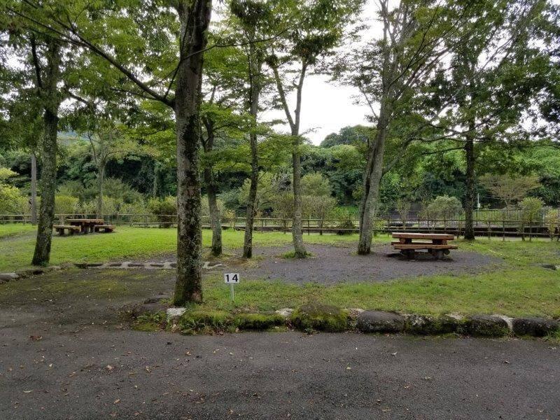 城ヶ原オートキャンプ場 オートサイト 14番サイト
