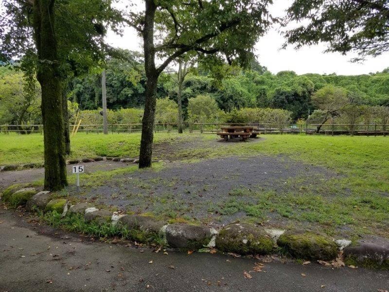 城ヶ原オートキャンプ場 オートサイト 15番サイト