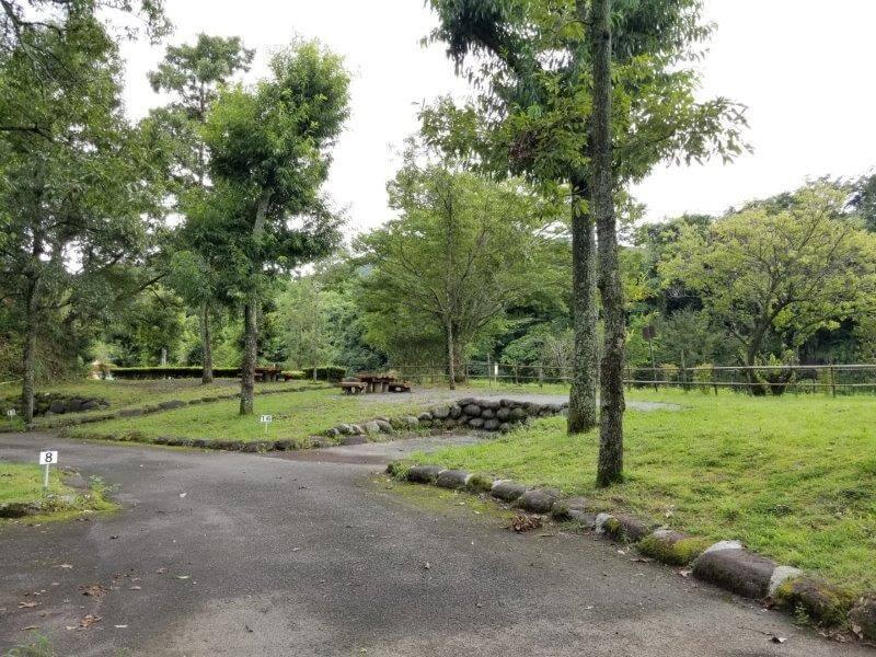 城ヶ原オートキャンプ場 オートサイト 16番サイト