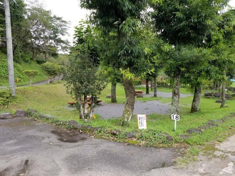 城ヶ原オートキャンプ場 オートサイト 18番サイト
