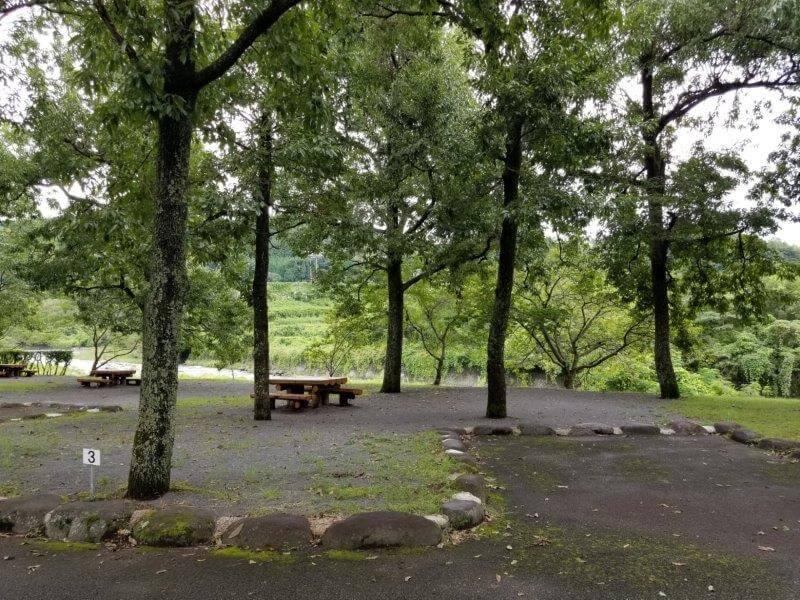 城ヶ原オートキャンプ場 オートサイト 3番サイト