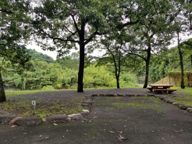 城ヶ原オートキャンプ場 オートサイト 4番サイト