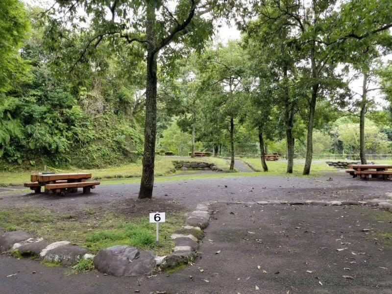 城ヶ原オートキャンプ場 オートサイト 6番サイト