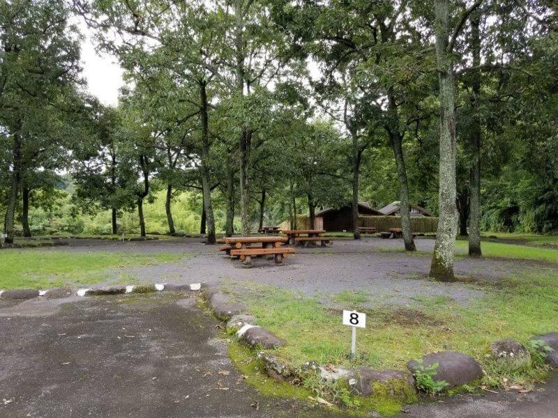 城ヶ原オートキャンプ場 オートサイト 8番サイト