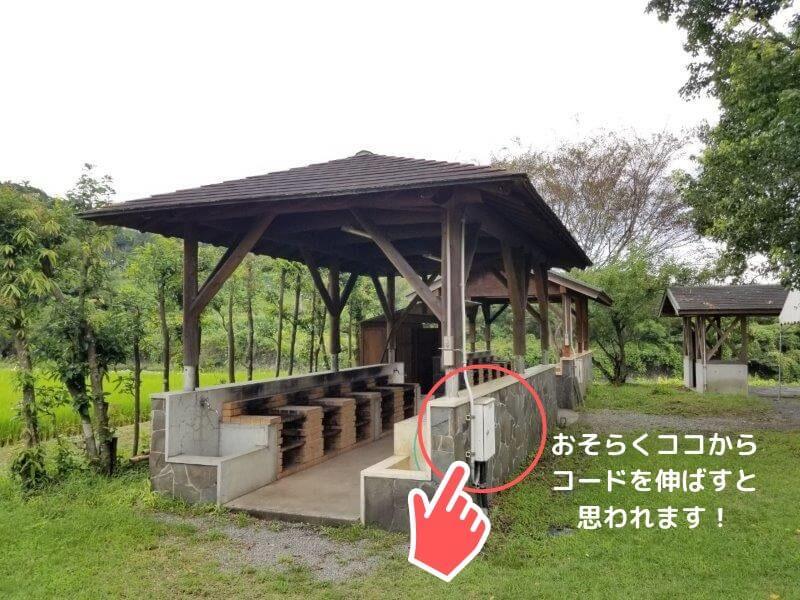 城ヶ原オートキャンプ場 炊事棟の電源設備