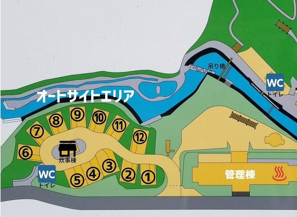 夢たちばなビレッジ 場内マップ(オートサイト)