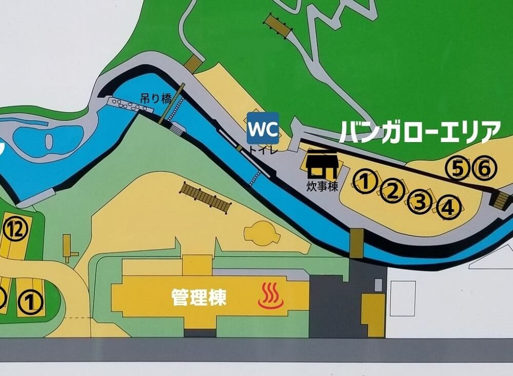夢たちばなビレッジ 場内マップ(バンガロー)