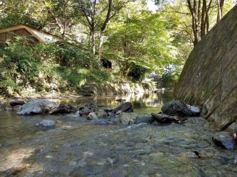 夢たちばなビレッジ 水遊びできる小川