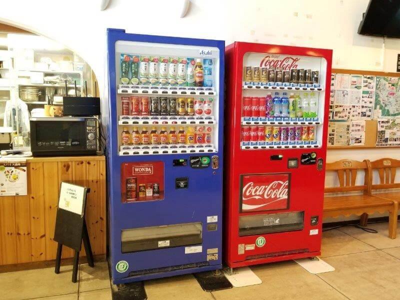 夢たちばなビレッジ 管理棟にある自動販売機