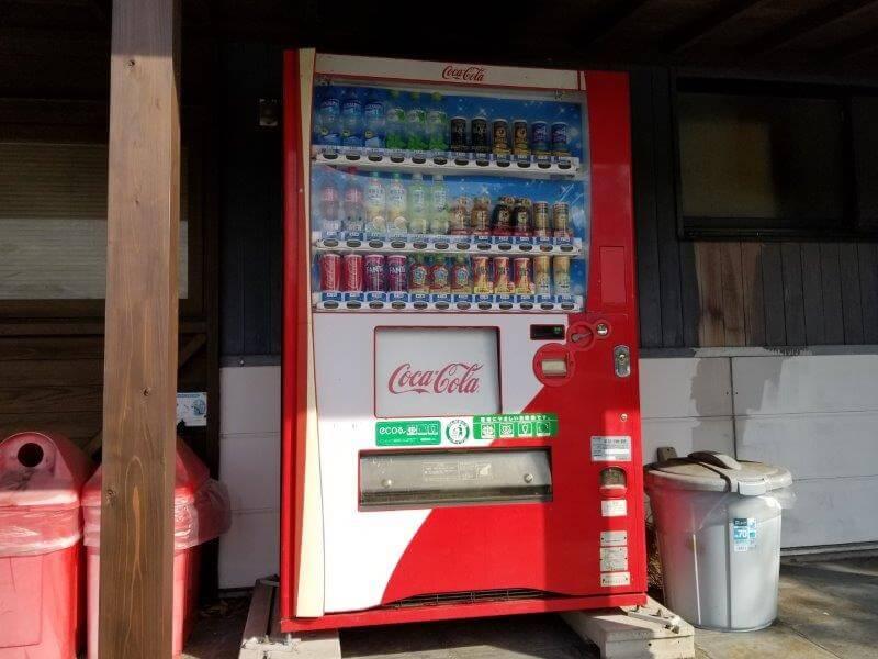 大池オートキャンプ場にある自動販売機