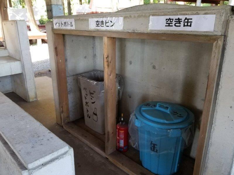 四季の里 旭志 炊事棟にあるゴミ捨て場