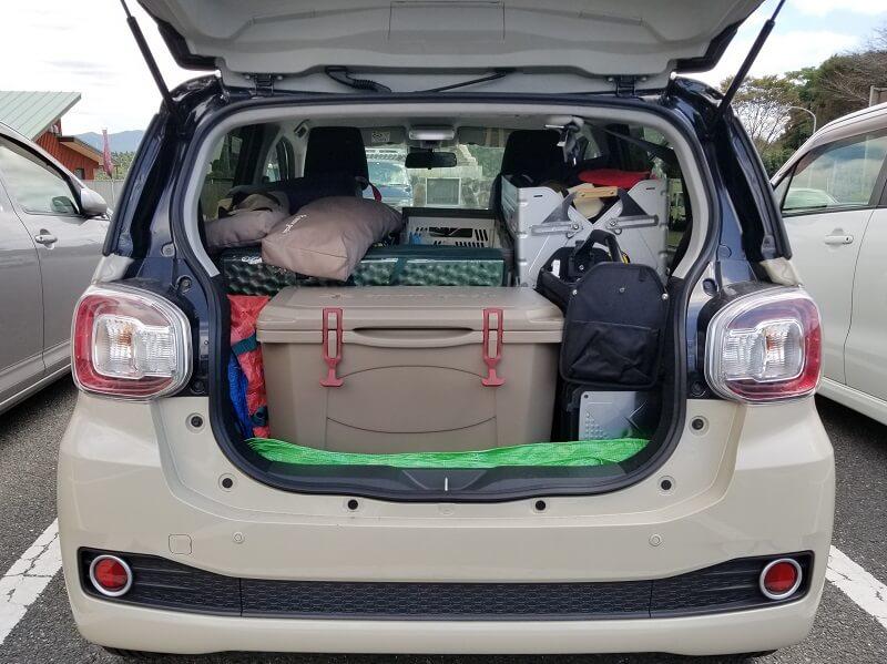 四季の里 旭志:キャンプ日記 ギアを車に積載