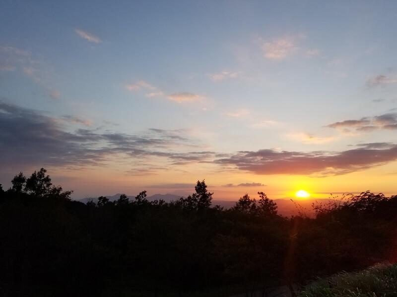 四季の里 旭志:キャンプ日記 サンセット