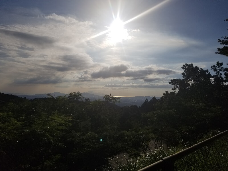 四季の里 旭志 オートサイトから見る菊池平野