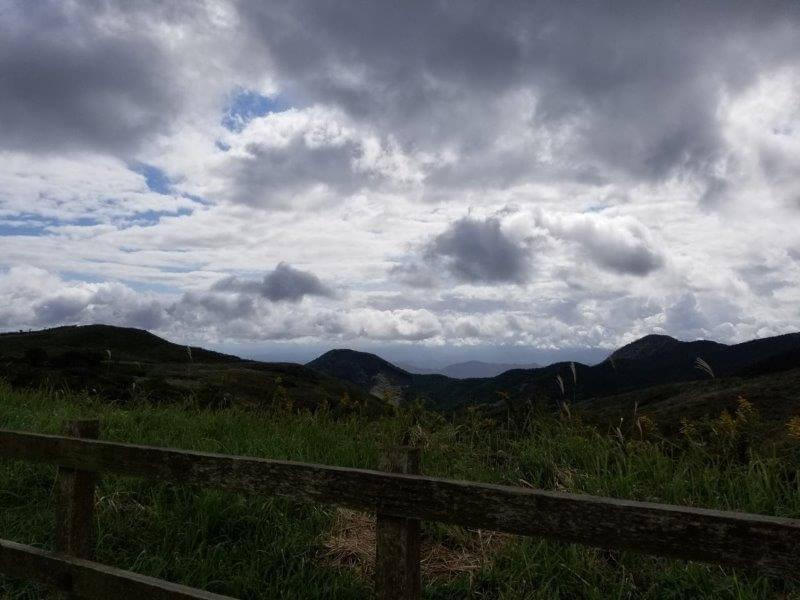 平尾台自然の郷キャンプ場 オートサイト Aサイトからの景色