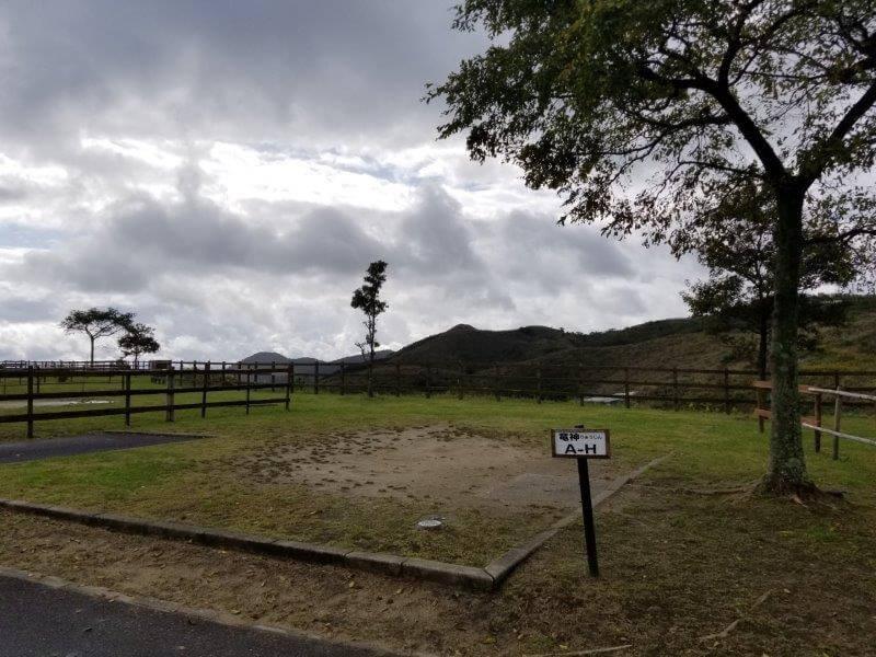 平尾台自然の郷キャンプ場 オートサイト Hサイト
