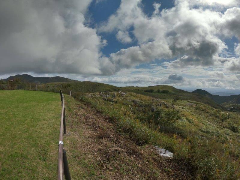 平尾台自然の郷キャンプ場から見る景色