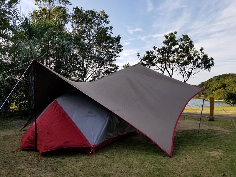 うどん県と淡路島 3泊4日のキャンプ旅行記(キャンプ場の朝)