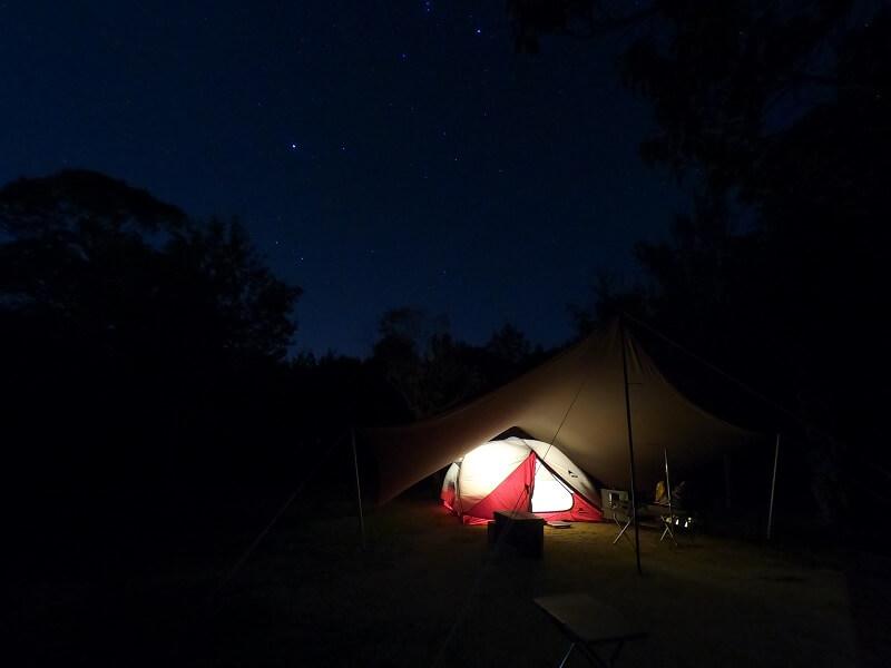 うどん県と淡路島 3泊4日のキャンプ旅行記(キャンプ場の夜)