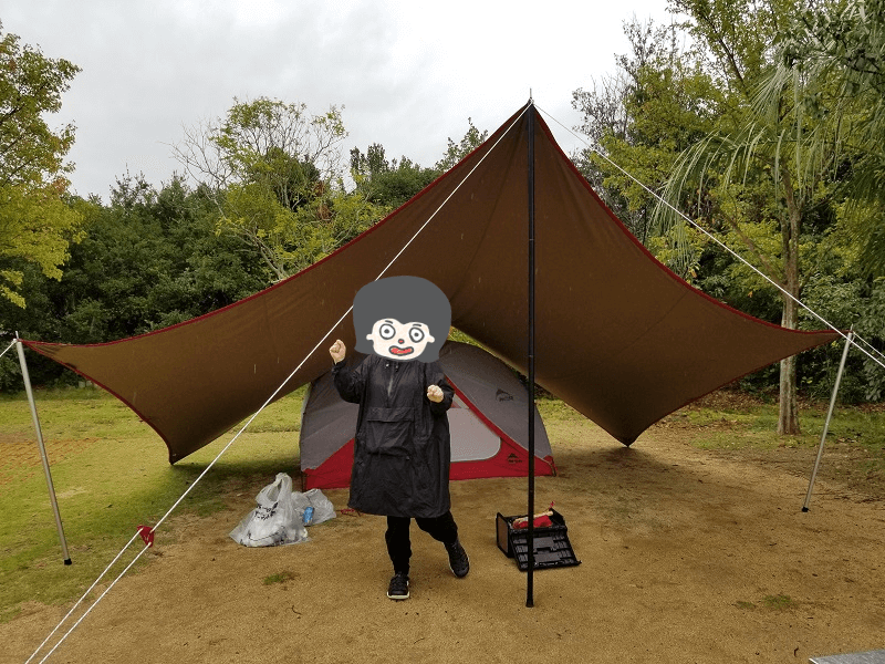 うどん県と淡路島 3泊4日のキャンプ旅行記(雨撤収)