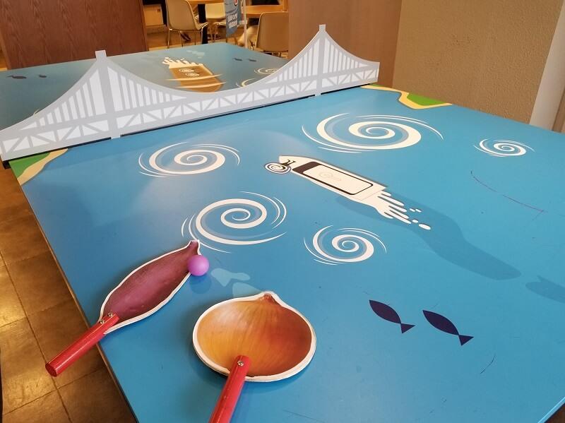 うどん県と淡路島 3泊4日のキャンプ旅行記(鳴門の卓球台)