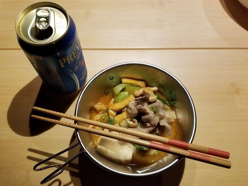うどん県と淡路島 3泊4日のキャンプ旅行記(坦々餃子鍋)