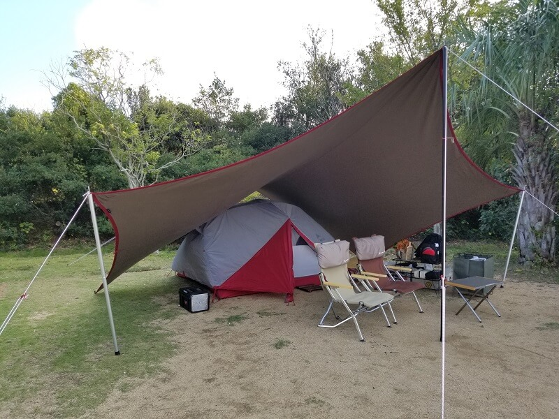 うどん県と淡路島 3泊4日のキャンプ旅行記(テント設営)