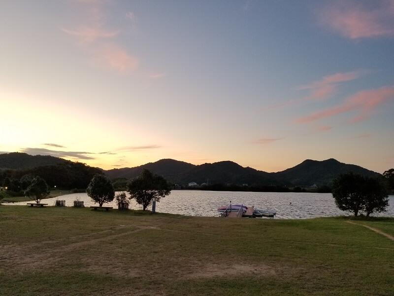 大池オートキャンプ場 フリーサイトAからの景色