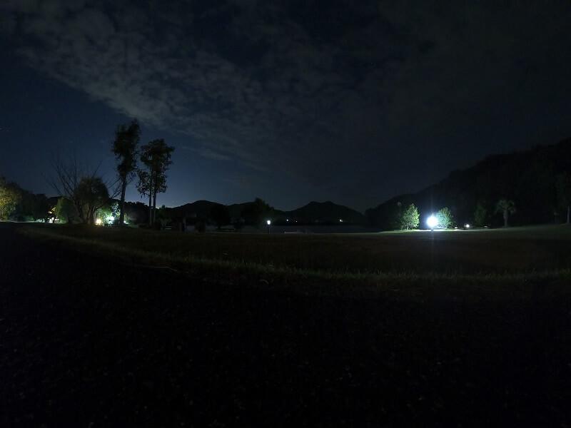 大池オートキャンプ場の夜