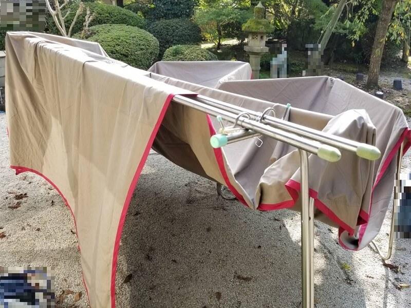 うどん県と淡路島 3泊4日のキャンプ旅行記(自宅でタープを干す)