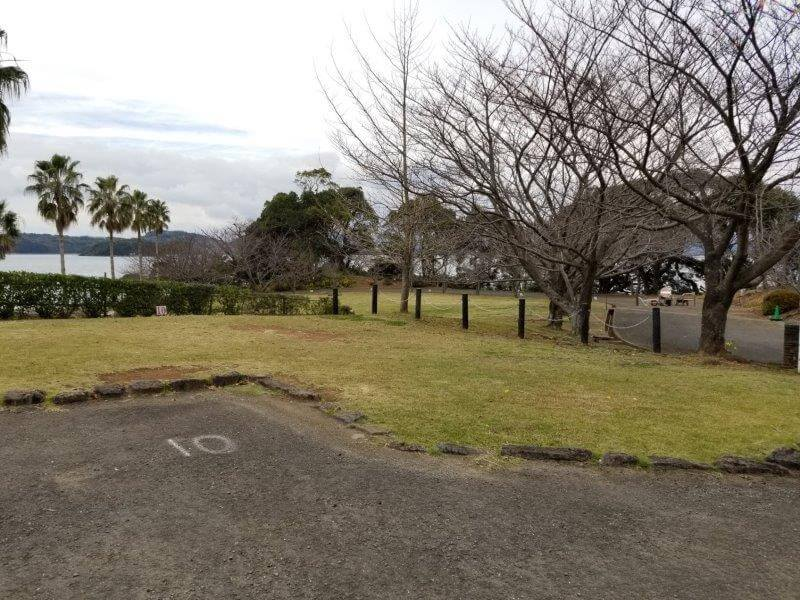 四本堂公園キャンプ場 オートサイト(10番サイト)