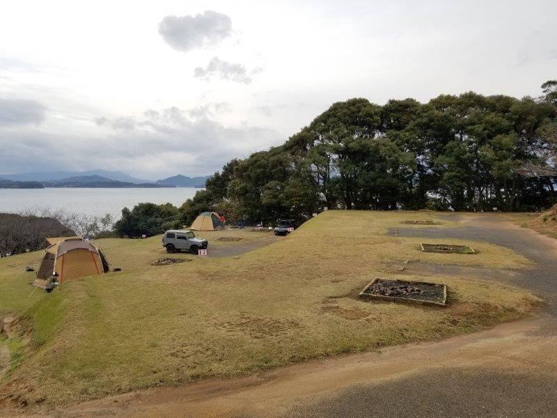 四本堂公園キャンプ場 オートサイト(11~21番サイト)