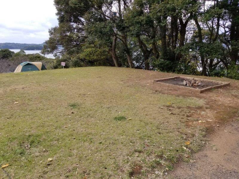 四本堂公園キャンプ場 オートサイト(20番サイト)