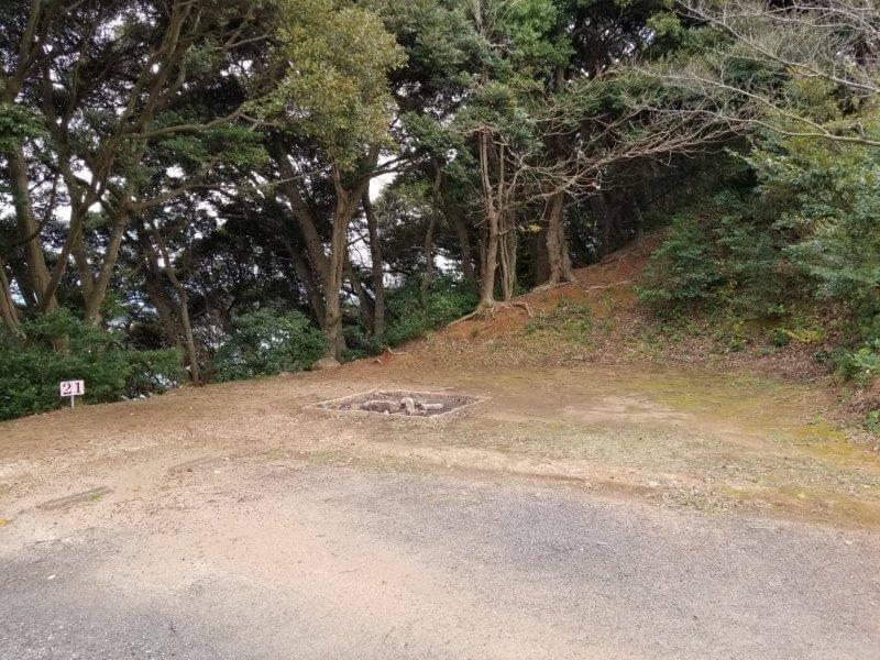 四本堂公園キャンプ場 オートサイト(21番サイト)