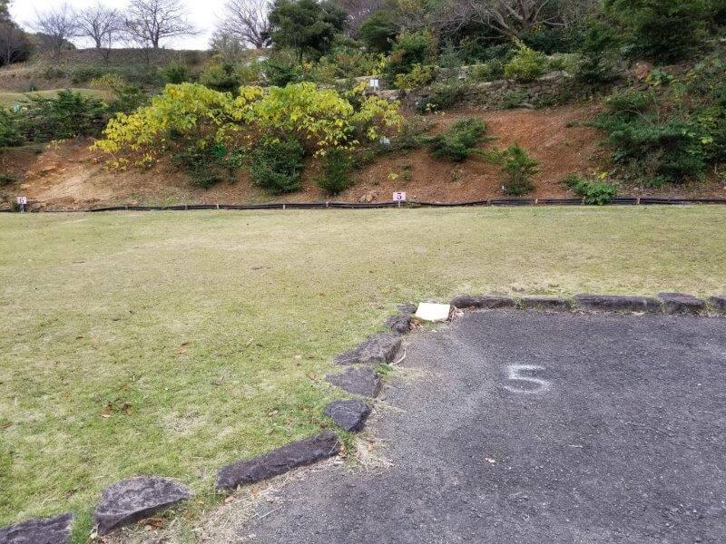 四本堂公園キャンプ場 オートサイト(5番サイト)
