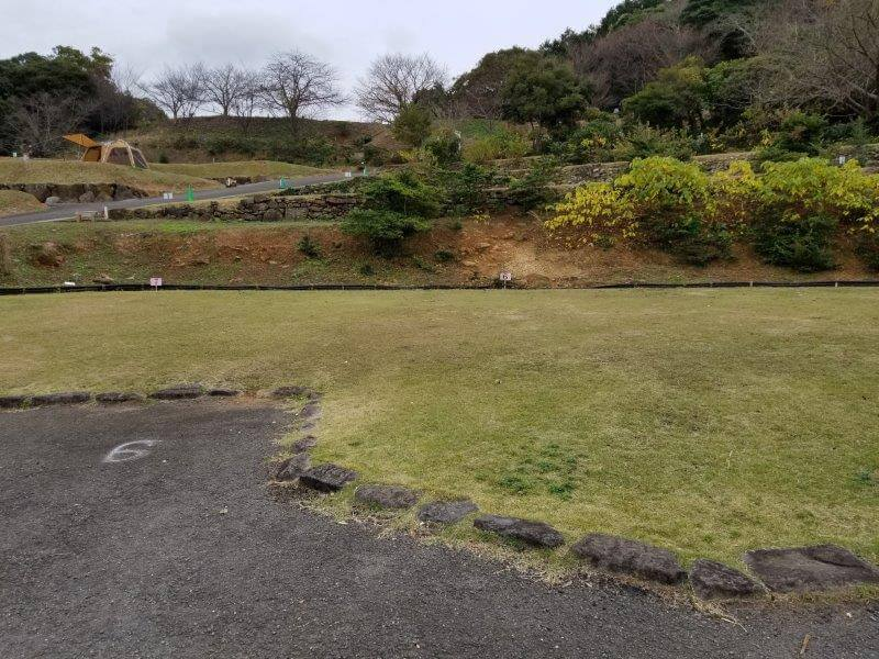 四本堂公園キャンプ場 オートサイト(6番サイト)