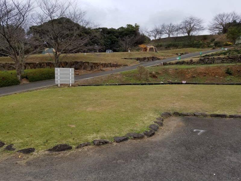四本堂公園キャンプ場 オートサイト(7番サイト)