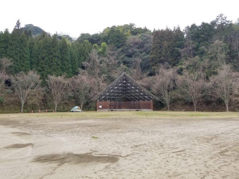 岩屋キャンプ場のフリーサイト